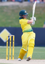 Alyssa Healy plays a pull, Australia v England, Women's Ashes 2017-18, 3rd ODI, Coffs Harbour, October 29, 2017