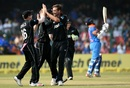 A little extra bounce gave Tim Southee his first wicket of the day, India v New Zealand, 3rd ODI, Kanpur, October 29, 2017