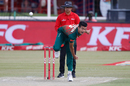 Taskin Ahmed in his follow through, South Africa v Bangladesh, 2nd T20I, Potchefstroom, October 29, 2017