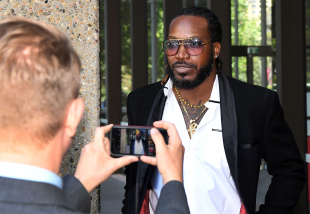 Chris Gayle leaves the New South Wales Supreme Court