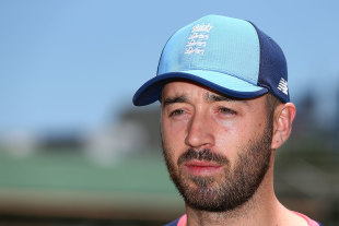 James Vince speaks to the media in Perth