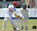 Kieran Powell steers one through point, Zimbabwe v West Indies, 2nd Test, 3rd day, Bulawayo, October 31, 2017