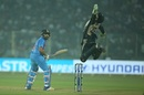 Tom Latham leaps for the skies in trying to take a catch, India v New Zealand, 1st T20I, Delhi, November 1, 2017