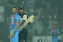 All smiles at the sight of magical timing, India v New Zealand, 1st T20I, Delhi, November 1, 2017