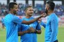 Hardik Pandya seems extremely fascinated with KL Rahul's beard, India v New Zealand, 2nd T20I, Rajkot, November 4, 2017