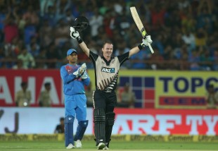 Colin Munro clobbered his second T20I hundred