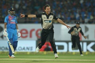 Trent Boult appeals vociferously for Rohit Sharma's wicket