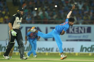 Mohammed Siraj returned 4-0-53-1 on his international debut