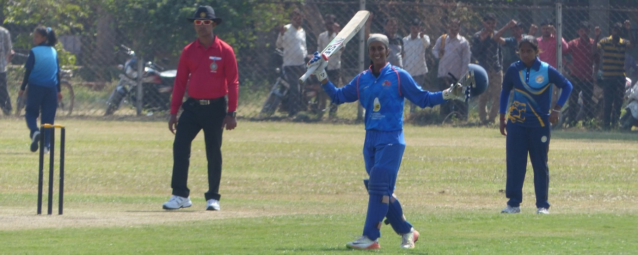 Jemimah Rodrigues celebrates her maiden double-hundred,