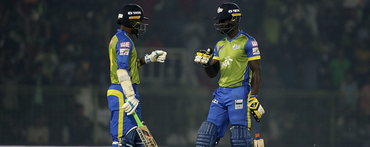 Upul Tharanga and Andre Fletcher have a chat