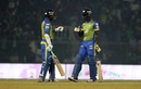 Upul Tharanga and Andre Fletcher have a chat, Sylhet Sixers v Rajshahi Kings, BPL 2017-18, Sylhet, November 7, 2017