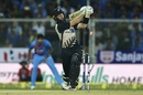 Martin Guptill loses his off stump, India v New Zealand, 3rd T20I, Thiruvananthapuram, November 7, 2017