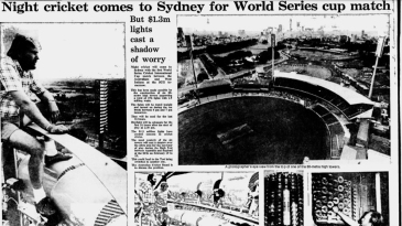 The <i>Sydney Morning Herald</I> reports on preparations for the first night match at the SCG, a a World Series Cricket game
