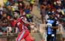 Taskin Ahmed bowled an over in which three wickets fell, Chittagong Vikings v Rangpur Riders, Bangladesh Premier League, Sylhet, November 8, 2017