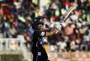Ravi Bopara guides the ball through point