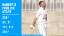 In just six innings, Baheer Shah has scored two centuries, apart from a double and a triple each
