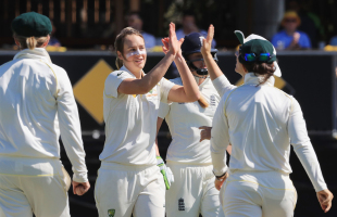 Ellyse Perry took her third wicket of the innings to dismiss England for 280