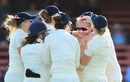 Sophie Ecclestone dismissed Beth Mooney and Alex Blackwell in quick succession, Australia v England, Women's Ashes 2017-18, Only Test, 2nd day, Sydney, November 10, 2017