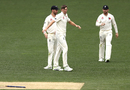 Craig Overton took the wicket of Matthew Short early on the fourth day, Cricket Australia XI v England, The Ashes 2017-18, tour match, 4th day, Adelaide, November 11, 2017