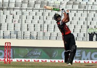 Mahmudullah hits one straight during his 40