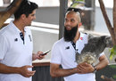 Alastair Cook and Moeen Ali get to know some of the local fauna, Townsville, November 13, 2017