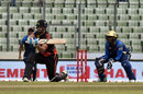 Rilee Rossouw plays a sweep, Dhaka Dynamites v Khulna Titans, Bangaldesh Premier League, Dhaka, 14 November, 2017