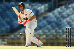 Mitchell Marsh guides one onto the leg side