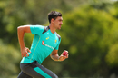 Mitchell Starc bowls during a training session at Allan Border Field, The Ashes 2017-18, Brisbane, November 15, 2017