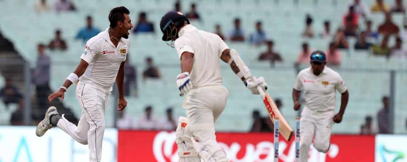 Instant regret for Shikhar Dhawan. Pure joy for Suranga Lakmal