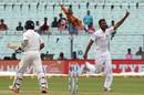 Dasun Shanaka had Ajinkya Rahane early on the second morning, India v Sri Lanka, 1st Test, 2nd day, Kolkata, November 17, 2017
