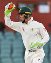 Tim Paine in action behind the stumps, Cricket Australia XI v England, The Ashes 2017-18, tour match, 1st day, Adelaide, November 8, 2017