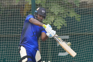 Chris Gayle has a hit in the nets