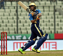 Shakib Al Hasan swivels during a pull, Dhaka Dynamites v Rajshahi Kings, Bangladesh Premier League 2017-18, Dhaka, November 18, 2017