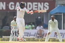 Niroshan Dickwella leaps to play the pull, India v Sri Lanka, 1st Test, 4th Day, Kolkata, 19 November, 2017