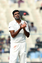 R Ashwin went wicketless in the first innings, India v Sri Lanka, 1st Test, 4th Day, Kolkata, 19 November, 2017
