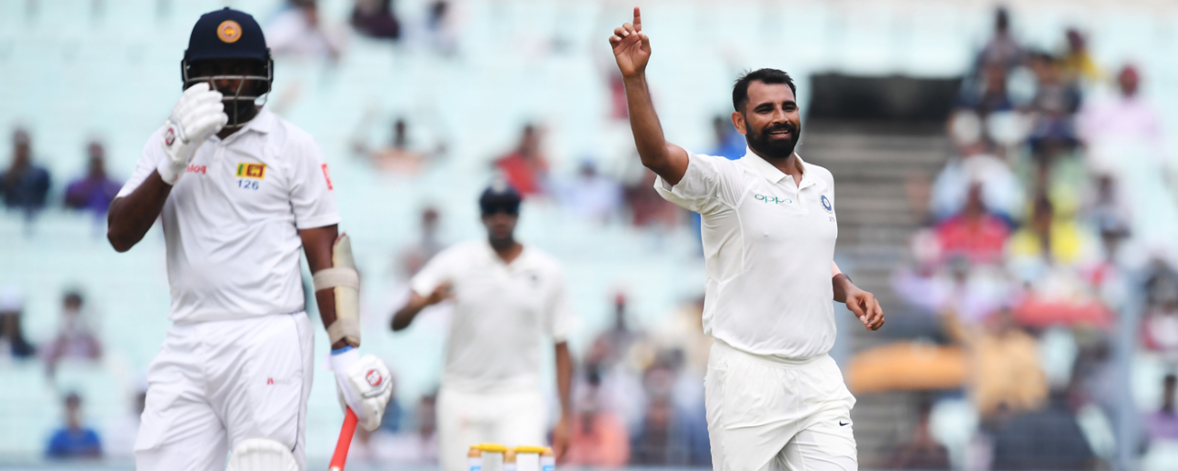 Mohammed Shami sent back Dilruwan Perera for 5