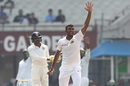 Lahiru Gamage performed the role of a workhorse, India v Sri Lanka, 1st Test, Kolkata, 5th day, November 20, 2017