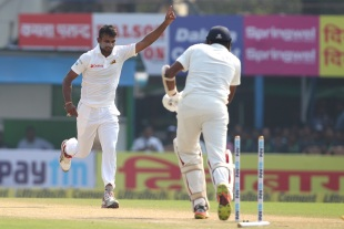 Dasun Shanaka provided some useful strikes
