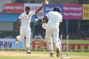 Dasun Shanaka provided some useful strikes, India v Sri Lanka, 1st Test, Kolkata, 5th day, November 20, 2017