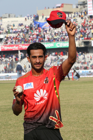 Hasan Ali bagged a five-for for Comilla Victorians