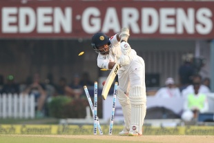 Dinesh Chandimal has no answer to an indipper