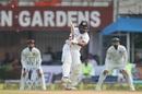 Niroshan Dickwella plays an outrageous scoop to a no-ball, India v Sri Lanka, 1st Test, Kolkata, 5th day, November 20, 2017