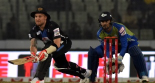 Brendon McCullum looks to paddle