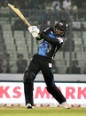 Chris Gayle launches into a big shot, Sylhet Sixes v Rangpur Riders, BPL 2017, Dhaka, November 20, 2017