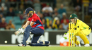 Heather Knight shapes up to play a reverse sweep, Australia v England, Women's Ashes, 3rd T20I, Canberra, November 21, 2017