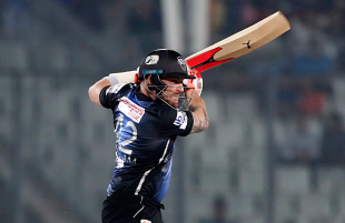 Brendon McCullum flays one through the off side