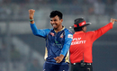 Mosaddek Hossain celebrates the wicket of Chris Gayle, Dhaka Dynamites v Rangpur Riders, BPL 2017-18, Dhaka, November 21, 2017