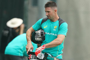 Shaun Marsh leaves the nets at The Gabba