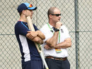 Dawid Malan chats with England director of cricket Andrew Strauss, Brisbane, November 22, 2017