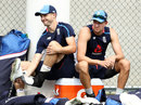 Chris Woakes and Jake Ball take a load off, Brisbane, November 22, 2017